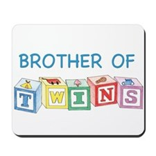 Brother of Twins Blocks Mousepad