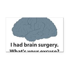 brain5.png Rectangle Car Magnet