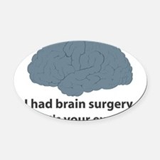 brain5.png Oval Car Magnet