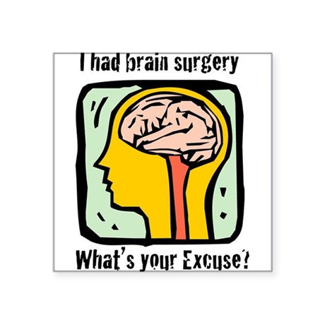 "Brain-3-[Converted]a.png Square Sticker 3"" x 3"""
