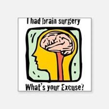 "Brain-3-[Converted]a.png Square Sticker 3"" x 3"""