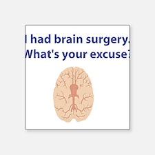 "brain3.png Square Sticker 3"" x 3"""