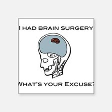 """Brain---Tiny-[Converted]3a.png Square Sticker 3"""" x"""