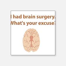 "brain4.png Square Sticker 3"" x 3"""