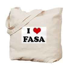 I Love FASA Tote Bag