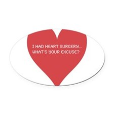 Heart-7.png Oval Car Magnet