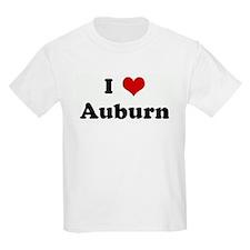 I Love Auburn Kids T-Shirt