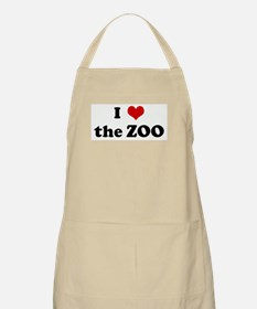 I Love the ZOO BBQ Apron