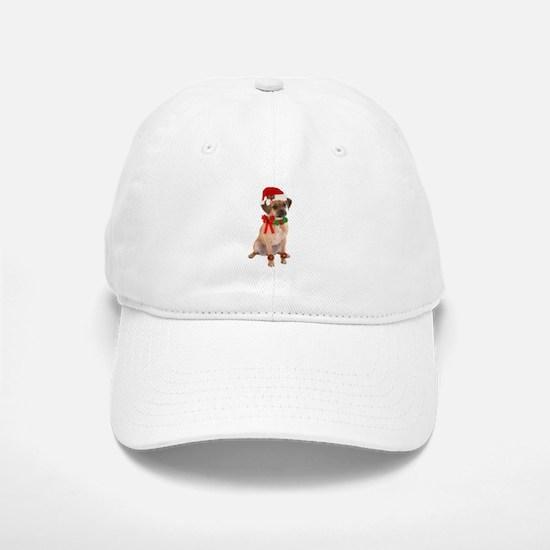 Christmas Puggle Baseball Baseball Cap