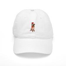 Christmas Puggle Baseball Cap
