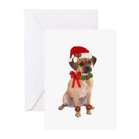 Christmas Puggle Greeting Cards (Pk of 10)