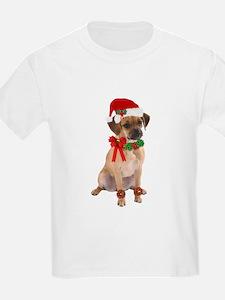 Christmas Puggle Kids T-Shirt