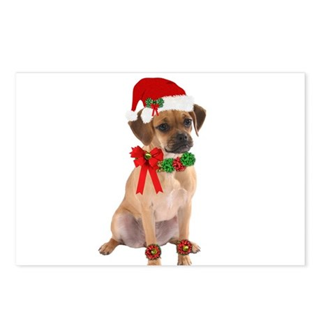 Christmas Puggle Postcards (Package of 8)