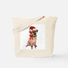 Christmas Puggle Tote Bag