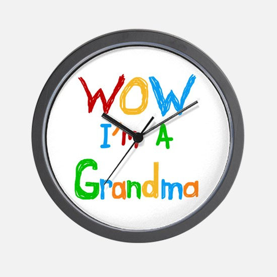 WOW I'm a Grandma Wall Clock