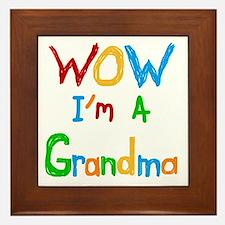 WOW I'm a Grandma Framed Tile