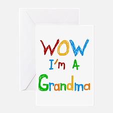 WOW I'm a Grandma Greeting Card