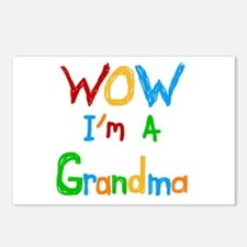 WOW I'm a Grandma Postcards (Package of 8)