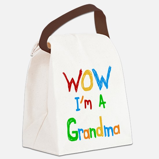 WOW I'm a Grandma Canvas Lunch Bag
