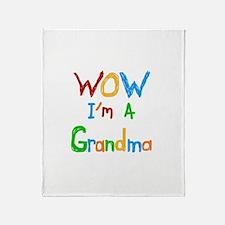 WOW I'm a Grandma Throw Blanket