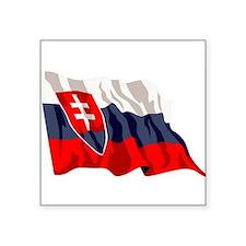 "Slovakia-2-[Converted].jpg Square Sticker 3"" x 3"""