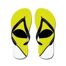 Alien Smiley Face Flip Flops
