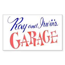 Ray and Irwin's Garag Rectangle Decal