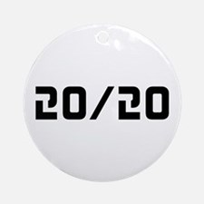 20/20 Vision Ornament (Round)