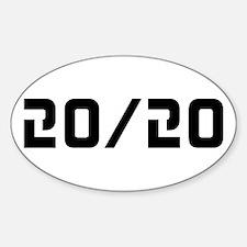 20/20 Vision Sticker (Oval)