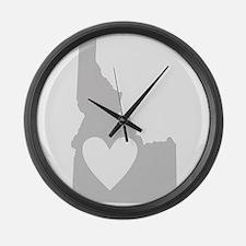 Heart Idaho Large Wall Clock