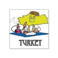 "Turkey Square Sticker 3"" x 3"""