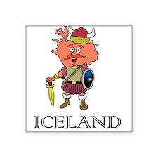"Iceland Square Sticker 3"" x 3"""