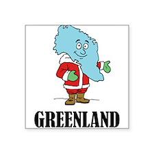"""Greenland Square Sticker 3"""" x 3"""""""