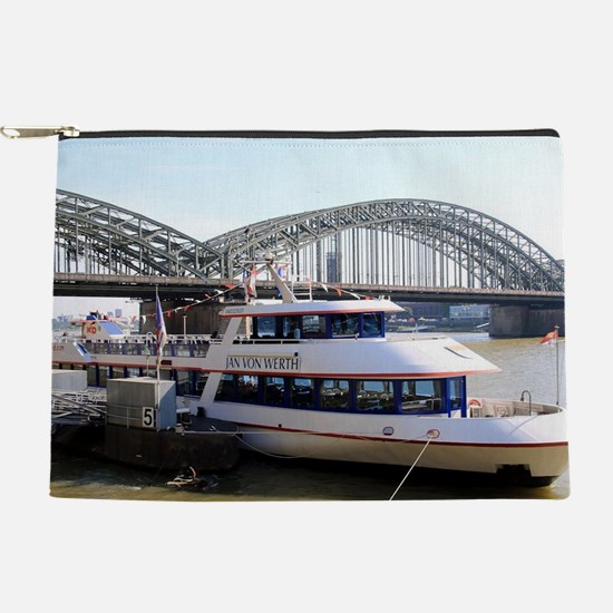Hohenzollern Bridge, Cologne, Germany Makeup Pouch