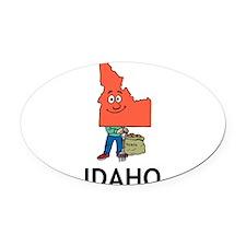 Idaho Oval Car Magnet