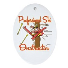 Ski Instructor Oval Ornament