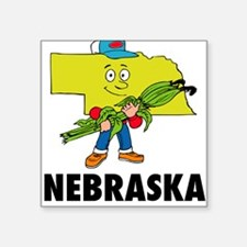 "Nebraska Square Sticker 3"" x 3"""
