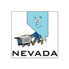 "Nevada Square Sticker 3"" x 3"""