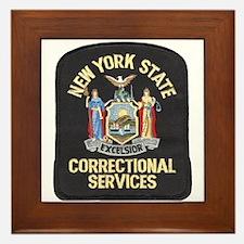 New York Corrections Framed Tile
