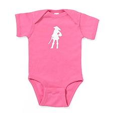 pirate silhouette dark Baby Bodysuit