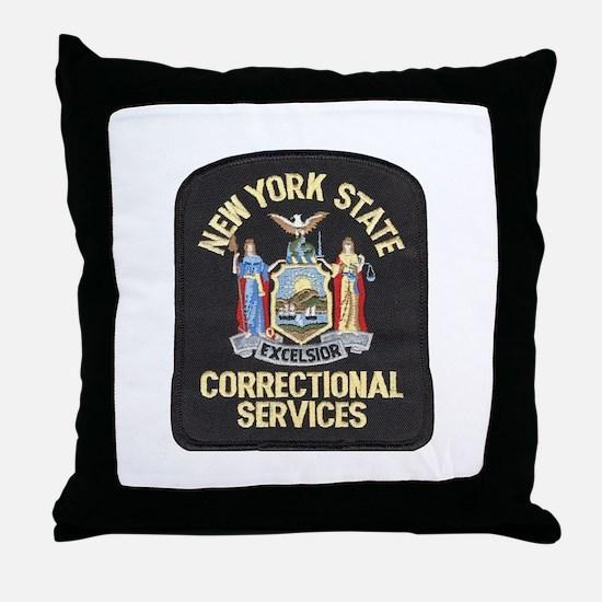 New York Corrections Throw Pillow