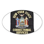 New York Corrections Oval Sticker