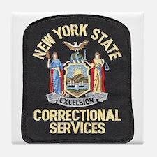 New York Corrections Tile Coaster