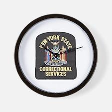 New York Corrections Wall Clock
