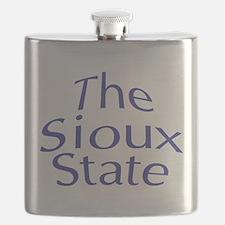 North Dakota State Nickname Flask