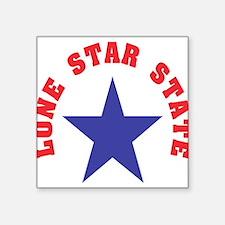 "Texas State Nickname Square Sticker 3"" x 3"""