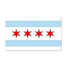 Chicago Flag Rectangle Car Magnet