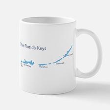 Florida Keys - Map Design. Mug