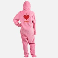 I-LOVE-HOUSE.png Footed Pajamas