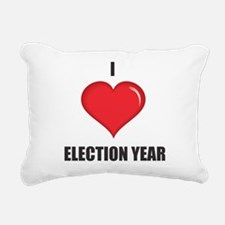 I love Election Year Rectangular Canvas Pillow